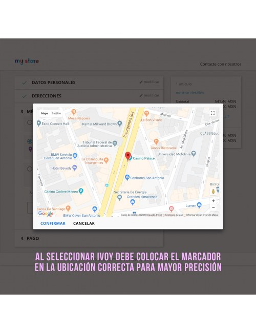 Marker on the map of the module iVoy Carrier for PrestaShop