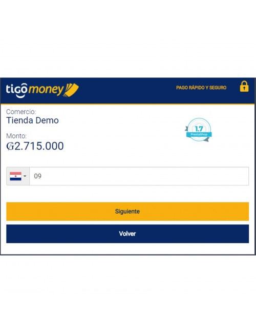 Payment gateway of the module Tigo Money Paraguay for PrestaShop
